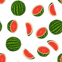 Theme big colored seamless watermelon, bright berry pattern for seal vector