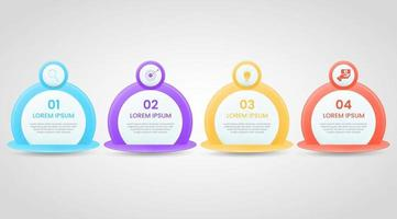 business infographic template with 4 option or step. vector