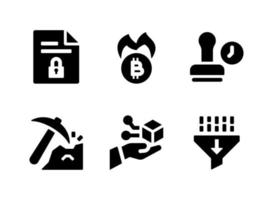 Simple Set of Cryptocurrency Related Vector Solid Icons
