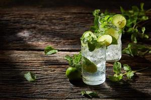 Mojito refreshing cold drink photo