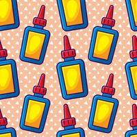 glue bottle seamless pattern illustration vector