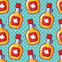 maple syrup seamless pattern illustration vector