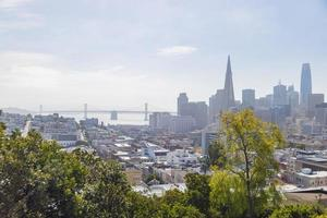 Skyline of San Francisco, California, USA photo