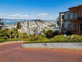 Lombard Street in San Francisco, California, USA photo