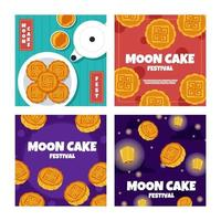 Moon Cake Card Pack vector