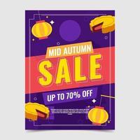 Mid Autumn Sale Poster vector