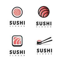 Logo Icon Style Illustration Bar or Shop, Sushi,Onigiri Salmon Roll vector
