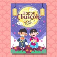Korea Chuseok Festival vector