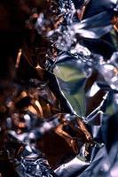 Papel de aluminio colorido abstracto cerrar fondo impresiones de gran tamaño foto