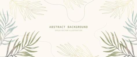Abstract minimal background. Watercolor modern art style wallpaper vector