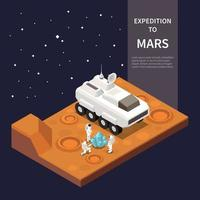 Space Ship Isometric Composition Vector Illustration