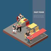 Gluttony Isometric Concept Vector Illustration