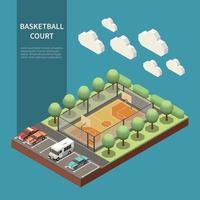 Sport Field Isometric Illustration Vector Illustration