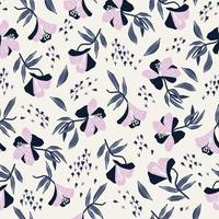 simple and modern flower seamless repeat pattern vector