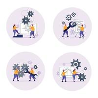 Engineering Concept Icons Set Vector Illustration