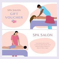 Gift Voucher Spa Banner Set vector
