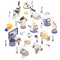 Future Technology Isometric Composition Vector Illustration
