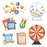 lotería realista set vector illustration