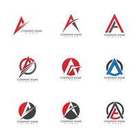 una plantilla de logotipo de letra vector