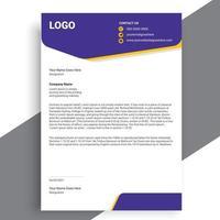 Business style letterhead design, Modern Business Letterhead Design vector