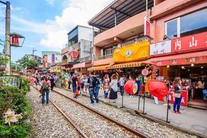 Shifen, Taiwan, Apr 30, 2017 - The Shifen Old Street section of Pingxi District photo