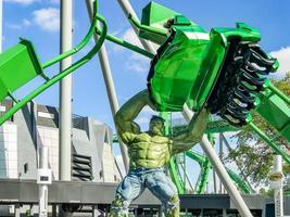Orlando, FL, USA, Jan 05, 2017 - Incredible hulk coaster in Adventure Island of Universal Studios photo