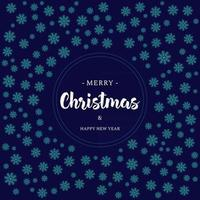 Christmas Greeting Card with Snowflakes and Lettering vector