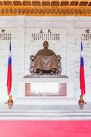 Taipei, Taiwan, Apr 29, 2017 - Bronze statue of Chiang Kai-shek photo