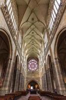 Prague, Czech Republic, Apr 14, 2016 - Beautiful interior of the St. Vitus Cathedral in Prague photo