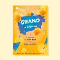 Modern reopening poster concept vector