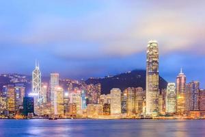 Hong Kong, Jul 20, 2013 - Hong Kong Victoria Harbor at night photo