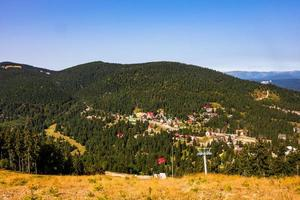 View from above of a mountain resort Vartop in Bihor, Romania, 2021 photo