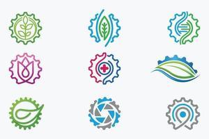 Gear Logos vector design templates