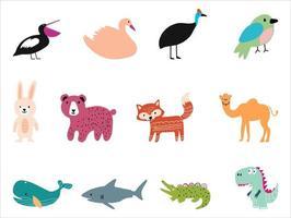 Vector illustration of cute animals.