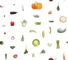 verduras de patrones sin fisuras vector