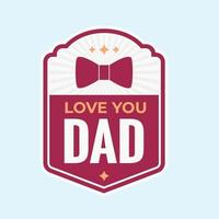 father day badge vector ilustration