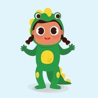 Ilustración de vector de niños de carnaval de dibujos animados
