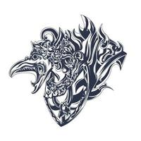 garuda balinese inking illustration artwork vector