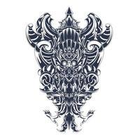 garuda wisnu kencana culture indonesian inking illustration artwork vector