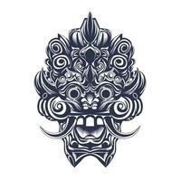culture balinese inking illustration artwork vector