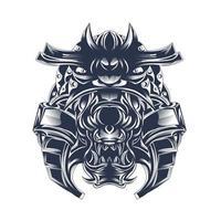 samurai japan inking illustration artwork vector