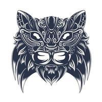 cat ornament inking illustration artwork vector