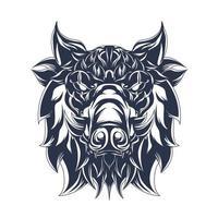 pig inking illustration artwork vector