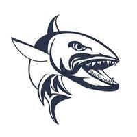 barracuda mascot logo inking illustration artwork vector