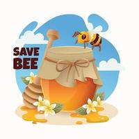 Honey Bee Protection Concept vector