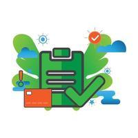 checkmark illustration. Flat vector icon.