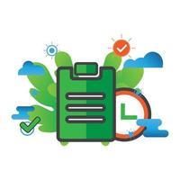 task illustration. Flat vector icon.