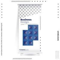 Business Roll Up Set. Standee Design vector