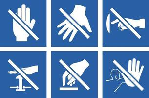 Please do not touch sign icon set vector