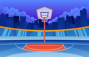 Stadium Basketball Background vector